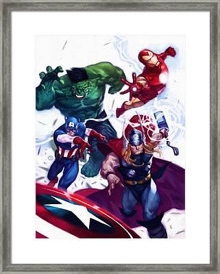 Vs Avengers Framed Print by Egor Vysockiy