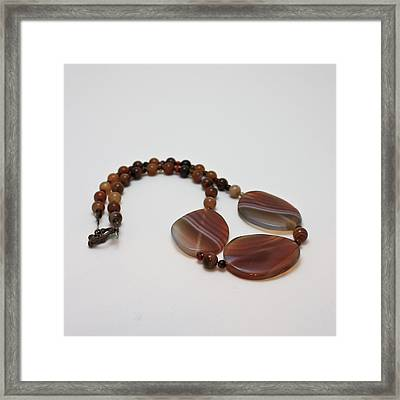 3543 Coffee Vein Agate Necklace Framed Print by Teresa Mucha