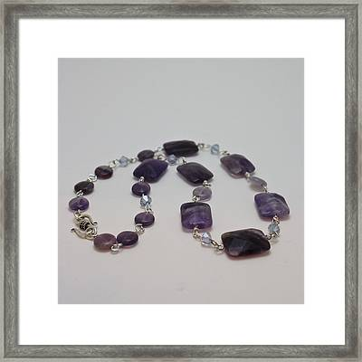 3575 Amethyst Necklace Framed Print by Teresa Mucha