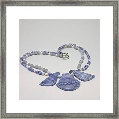 3588 Blue Banded Agate Necklace Framed Print by Teresa Mucha