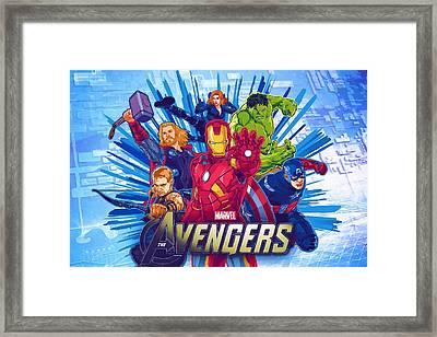 Avengers The Print Framed Print by Egor Vysockiy