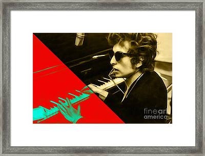 Bob Dylan Collection Framed Print by Marvin Blaine