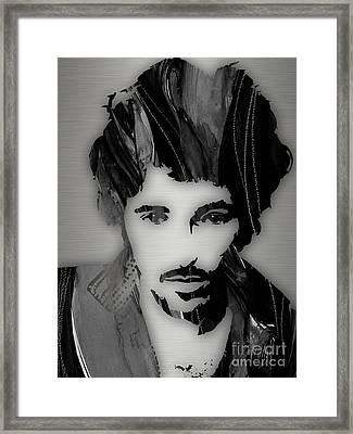 Bruce Springsteen Collection Framed Print by Marvin Blaine