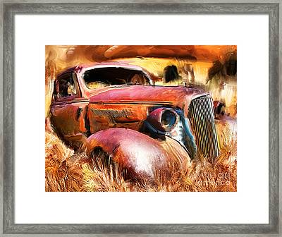 37 Chevy Framed Print by Tom Griffithe
