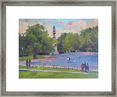 37000 Flags Framed Print by Dianne Panarelli Miller
