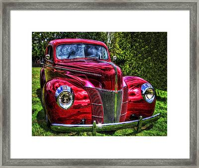 38 Ford Coupe  Framed Print by Thom Zehrfeld
