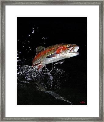 3d Rainbow Framed Print by Brian Pelkey