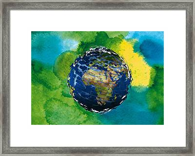 3d Render Of Planet Earth 14 Framed Print by Lanjee Chee