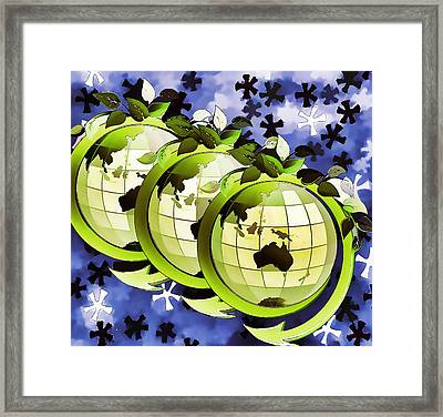 3d Render Of Planet Earth 16 Framed Print by Lanjee Chee