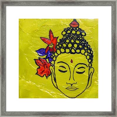 3rd Chakra Solar Plexus Yellow Chakra Art  Framed Print by Chakra Art