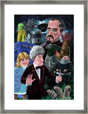 3rd Dr Who And Friends Framed Print by Martin Davey