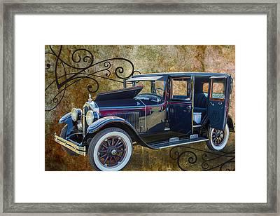 1924 Buick Duchess Antique Vintage Photograph Fine Art Prints 104 Framed Print by M K  Miller