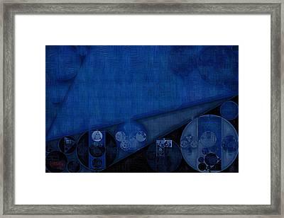 Abstract Painting - Dark Cerulean Framed Print by Vitaliy Gladkiy