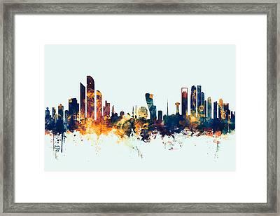 Abu Dhabi Skyline Framed Print by Michael Tompsett