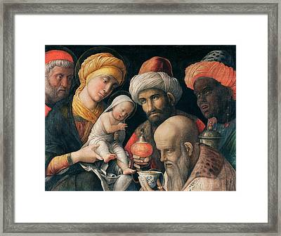 Adoration Of The Magi Framed Print by Andrea Mantegna