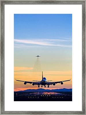 Aeroplane Landing, Canada Framed Print by David Nunuk
