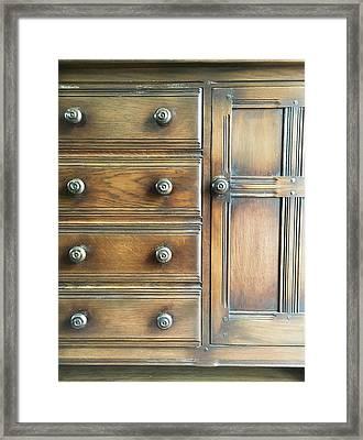 Antique Furniture Framed Print by Tom Gowanlock