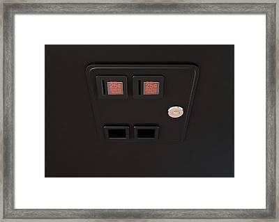 Arcade Machine Coin Slot Panel Framed Print by Allan Swart