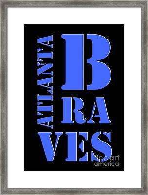 Atlanta Braves Original Typography Baseball Team Framed Print by Pablo Franchi