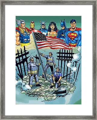Avengers The Art Framed Print by Egor Vysockiy