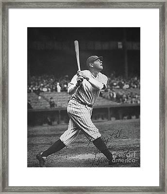 Babe Ruth  Framed Print by American School