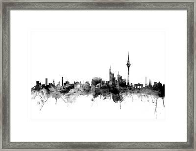 Berlin Germany Skyline Framed Print by Michael Tompsett