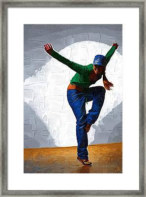 Can Dance Framed Print by Michael Vicin