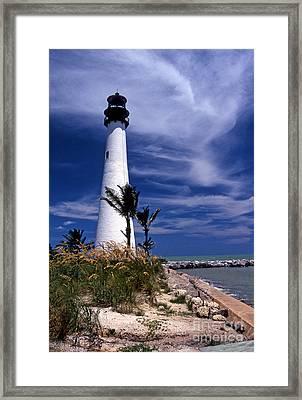 Cape Florida Lighthouse Framed Print by Skip Willits
