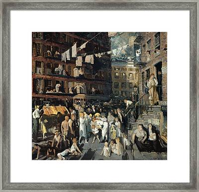 Cliff Dwellers  Framed Print by George Bellows