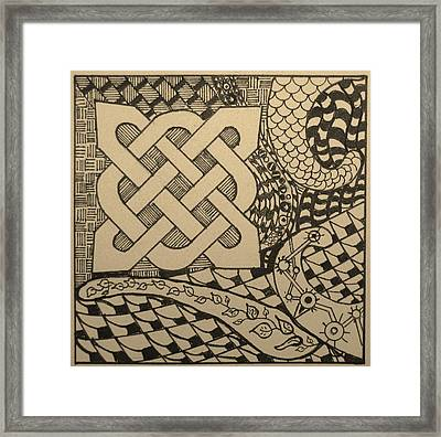 4 Corners Framed Print by Marguerite Meara