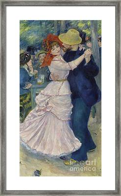 Dance At Bougival Framed Print by Celestial Images