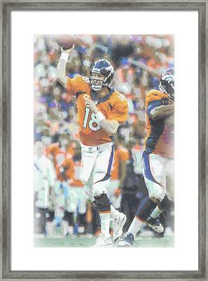 Denver Broncos Peyton Manning Framed Print by Joe Hamilton