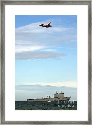 F16 Framed Print by Angel  Tarantella