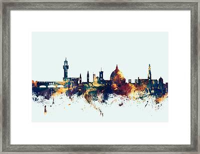 Florence Italy Skyline Framed Print by Michael Tompsett
