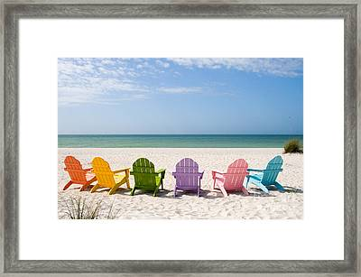 Florida Sanibel Island Summer Vacation Beach Framed Print by ELITE IMAGE photography By Chad McDermott