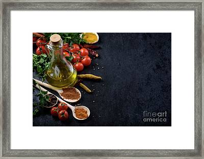 Food Ingredients Framed Print by Jelena Jovanovic