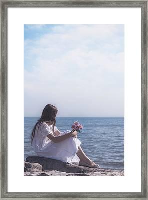 Girl With Flowers Framed Print by Joana Kruse