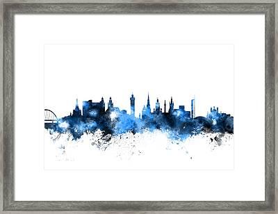 Glasgow Scotland Skyline Framed Print by Michael Tompsett