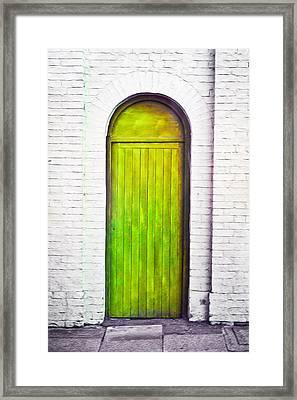 Green Door Framed Print by Tom Gowanlock