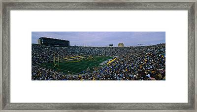 High Angle View Of A Football Stadium Framed Print by Panoramic Images