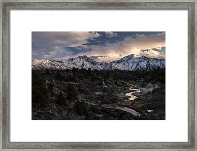 Hot Creek Framed Print by Cat Connor