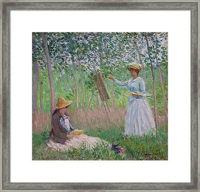 In The Woods At Giverny Framed Print by Claude Monet