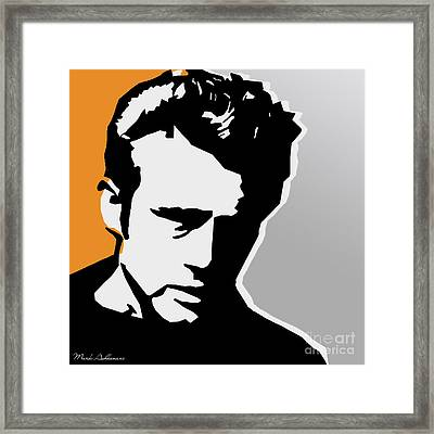 James Dean  Framed Print by Mark Ashkenazi