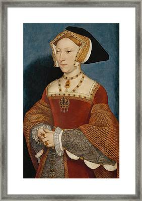 Jane Seymour Queen Of England Framed Print by Hans Holbein the Younger