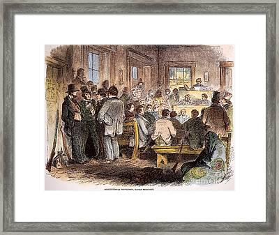 Kansas-nebraska Act, 1855 Framed Print by Granger