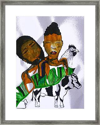 Kintu And Nambi Poster Framed Print by Gloria Ssali