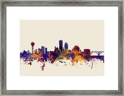 Knoxville Tennessee Skyline Framed Print by Michael Tompsett