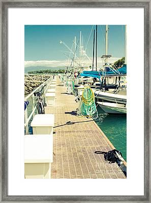 Lahaina Harbor Maui Hawaii Framed Print by Sharon Mau