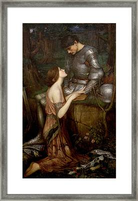 Lamia Framed Print by John William Waterhouse