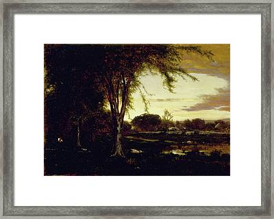 Landscape Framed Print by George Inness
